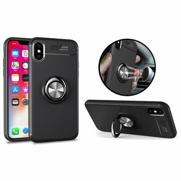 C-KU 360º Roterende Ring Grip Kicktand-sak for iPhone X/8/8 Plus/7/7 Plus / 6s / 6s Plus/6/6 Plus