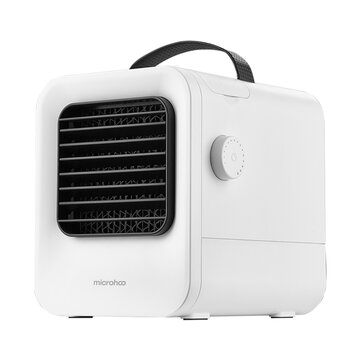 Microhoo MH02A Portable USB Air_Conditioning 2.5m_s Cooling Fan Negative Ion Purifier Air Cooler Stepless Speed Regulation for Home Office