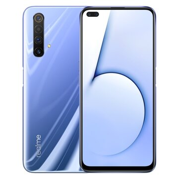 Realme X50 5G CN Version 6.57 inch FHD+ 120Hz Refresh Rate NFC Android 10.0 4200mAh 30W VOOC 4.0 64MP Quad Rear Cameras 6GB 256GB Snapdragon 765G Octa Core Smartphone