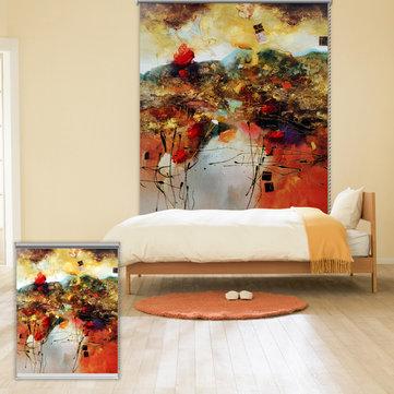 PAG Dekoracje Ścienne Okno Kurtyny Rolety Okiennice Kolorowe Malarstwo Abstrakcyjne Tło Rolety