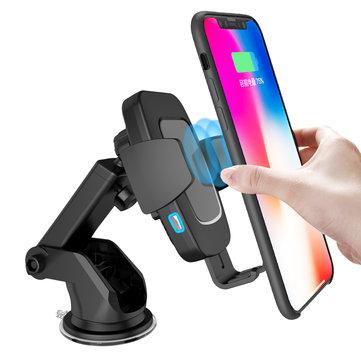 Bakeey Type-C 10W automatische sensor Qi draadloze autoladervatting voor Samsung voor iPhone Xiaomi