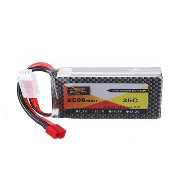 ZOP Power 11.1V 2200mAh 35C  3S Lipo Battery T Plug For RC Models