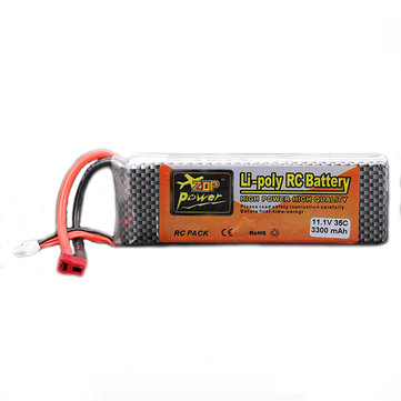 ZOP POWER 11.1V 3300MAH 3S 35C Lipo Battery T plug