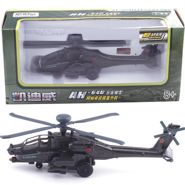 KAIDIWEI Apache 685052 1:64 Armed Helicopter Alloy Model Military Helicopter Model with Sound and Light