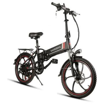 [האיחוד האירופי ישיר] Samebike XW-20LY 350W חכם מתקפל אופניים חשמליים 35km / h מקס. מהירות 48V 8AH סוללה E-Bike