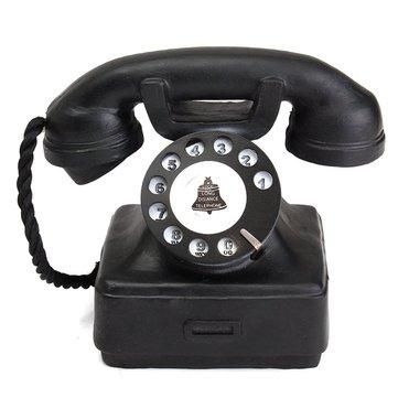 Vintage Antique Imitation Resin Rotary Phone Modelo Creative Phone For Office Decoração para casa