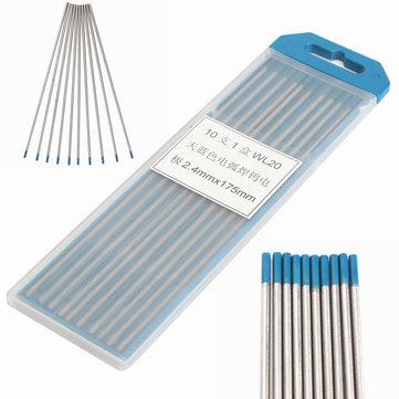 10Pcs Tungsten 2 Percent Lanthanated Blue Tip TIG Electrodes WL20 Welding Rods