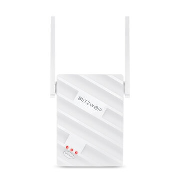 BlitzWolf® BW_NET3 Wireless Repeater Dual Band 1200Mbps Wireless Range Extender Supports 64 Devices Portable WiFi Signal Amplifier