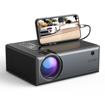 [EU Plug] Blitzwolf® BW_VP1_Pro LCD Projector 2800 Lumens Phone Same Screen Version Support 1080P Input Dolby Audio Wireless Portable Smart Home Theater Projector Beamer