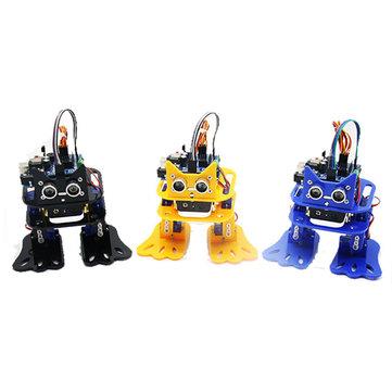 LOBOT DIY 4DOF Walking RC Robot Arduino Mixly Graphical Programming bluetooth Control Smart Robot Toy