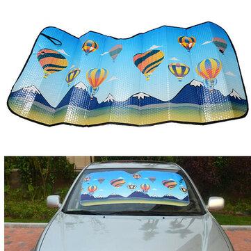 125x60cm Aire caliente Globo Thmed hoja de aluminio plegable reflexivo Coche Shield sombra de viento