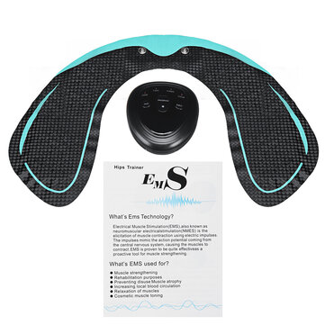6 Modes EMS Hip Trainer For Hips With U Shape Hydro Gel Pad Butt Lifting Fitness Body Shape