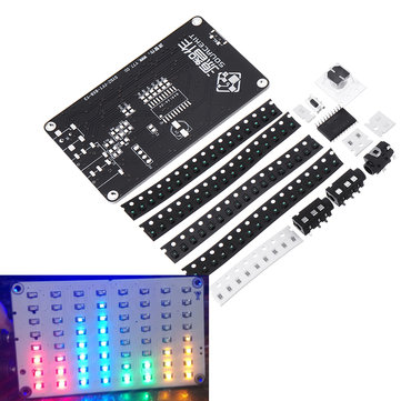8X8 FFT Audio Spectrum Sound Control Voice Control LED Spectrum Analyzer 64  Dot Matrix LED FFT Audio Spectrum Electronic DIY Production Kit