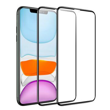 Buy BlitzWolf® BW-AY1 2pcs 0.23mm Soft Curved Edge Full Cover Scratch Resistant Tempered Glass Screen Protector For iPhone X/XR/XS/XS Max/11/11 Pro/11 Pro Max with Litecoins with Free Shipping on Gipsybee.com