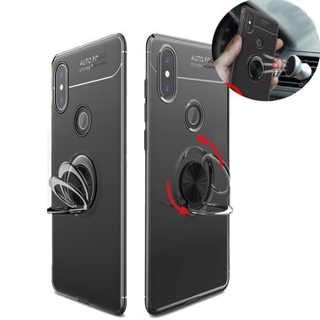 Bakeey 360° Adjustable Metal Ring Kickstand Magnetic PC Protective Case for Xiaomi Mi MIX 2S