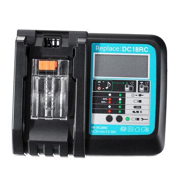DC18RC Fast Lithium-Ion Battery Charger BL1830 BL1840 BL1850 For 14.4V 18V Makita Battery