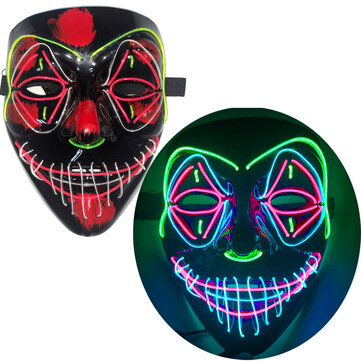 How can I buy Halloween EL Full Face Mask Clown Horror LED Glowing Mask Light Up Party Masks for Glow Party with Bitcoin