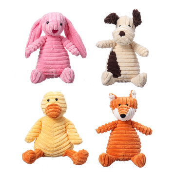 Buy 23CM Funny Soft Pet Puppy Chew Play Squeaker Squeaky Cute Stuffed Plush Toy with Litecoins with Free Shipping on Gipsybee.com