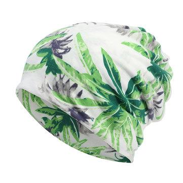 Unisex đa năng Cây In Bông Mũ Mũ Mũ Soft Mũ ấm