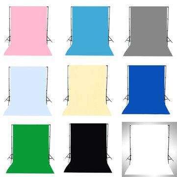 1,5x3 M Verde Nero Bianco Blu Giallo Rosa Colore solido grigio Fotografia Sfondo Sfondo Studio Prop