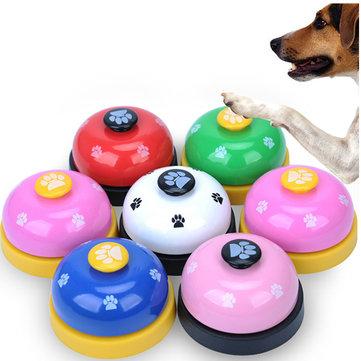 Pet Press Jingle Perro Gato Entrenador Pet Intelligence Huellas de juguete Press Bells Perro Paw Prints Ringer