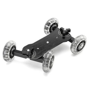 Desktop Camcorder DSLR Camera Video Wheels Rail Rolling Track Slider Dolly Car