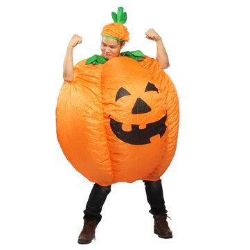 Vêtements gonflables de potiron de Halloween avec des dessus d'outils de Cosplay de partie de ventilateur