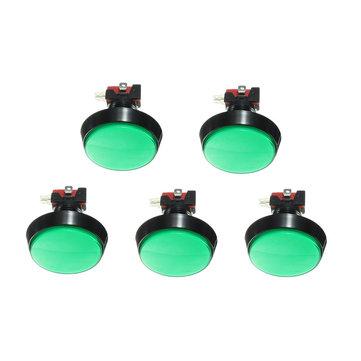 Interruttore a pulsante per giocatore di videogiochi Arcade Green luce a led da 60 mm