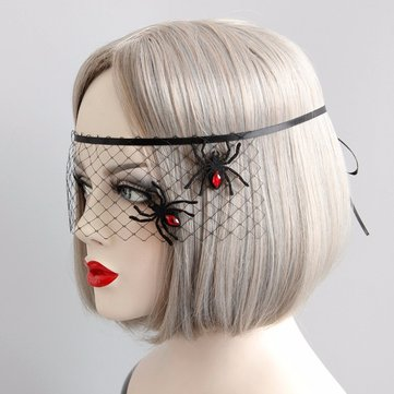 Sexy Black Lace Cosplay Masquerade Mask Spider Evil Mask