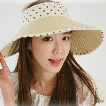 Áo len nữ mùa hè sọc sọc nón ngoài trời che nắng ngoài trời Mũ rộng vành