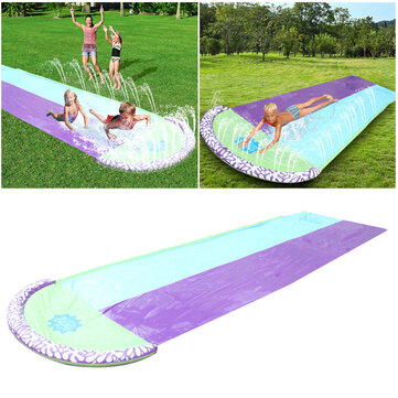 4.8x1.4m PVC Giant Inflatable Surf 'N Water Slide Fun Lawn Slip and Slide Waterslides Pools For Kids Summer Outdoor Children's Slide Double Surfboard