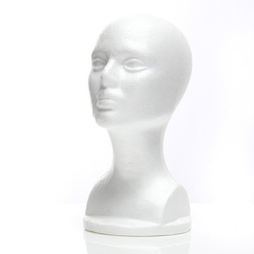 Styrofoam Mannequin Foam Head Model Glasses Hat Wig Display Stand