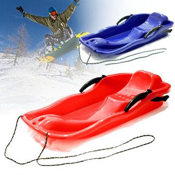 Ban trượt tuyết nhựa ngoài trời Sled Luge Snow Grass Sand Board Pad Với dây cho người đôi