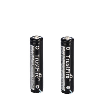 2PCS TrustFire 3.7V 600mAh 10440 Li-ion Rechargeable Battery Batteries With Protected PCB for LED Flashlights Headlamps Bicycle Lamp