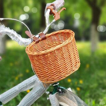Children's Bicycle Basket Plastic Rattan Large Capacity