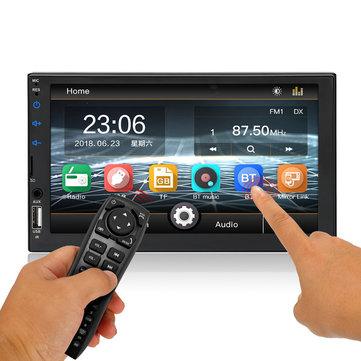 7 इंच 2DIN WinCE कार MP5 प्लेयर टच स्क्रीन एफएम रेडियो स्टीरियो रिमोट कंट्रोल सपोर्ट रियर कैमरा