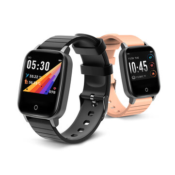 BlitzWolf BW HL1T Body Temperature Measure Automatic Heart Rate Monitor Breath Training Weather Display BTV5.0 Smart Watch