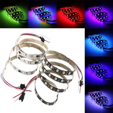1M 11.5W DC 12V WS2811 60 SMD 5050 LED RGB चेंजेबल फ्लेक्सिबल स्ट्रिप लाइट अलग-अलग पता लगाने योग्य