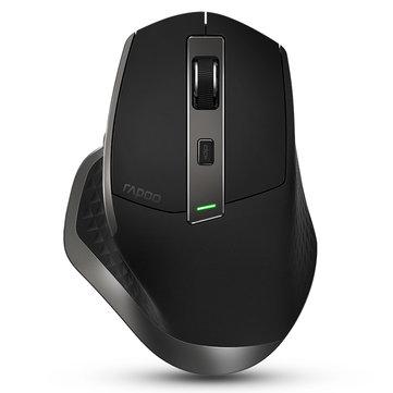 Rapoo MT750充電式マルチモードワイヤレスマウスBluetooth 3。0 / 4。0 RF 2。4GHz、4つのデバイス用マウス