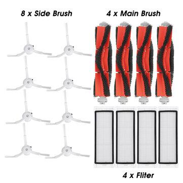 8pcs Side Brush 4pcs Roller Brush 4pcs HEPA Filter for Xiaomi Roborock Robot Vacuum Cleaner Xiaomi Mi Robot Accessories Parts