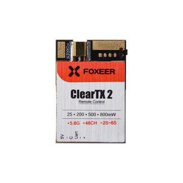 Foxeer ClearTX 2 5.8G 48CH 25/200/500/800mW Uart Remote Control VTx FPV Transmitter MMCX