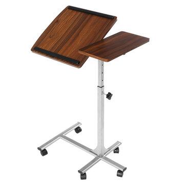 Douxlife® DL-RT01 Laptop Desk Rolling Table Height Adjustable Tiliting MDF Steel Frame For Home Office
