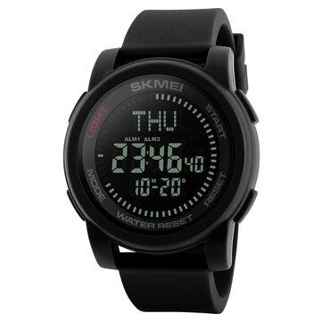 SKMEI 1289 50M Su Geçirmez Moda Spor Pusula Askeri Outdoor Dijital Erkek Kol saatı