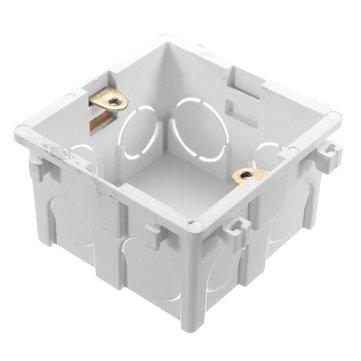 86x86mm Wall Plate Box Universal White Socket Switch Back Cassette