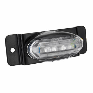 Yellow 24V LED Side Marker Lights License Plate Lamp Piranha Style with stand for Truck Trailer