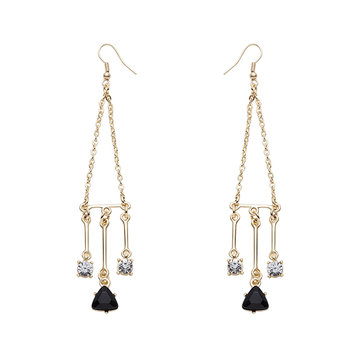 JASSY® Balance Style Zircon Crystal Earring Dangle Fashion Women Jewelry Anallergic Gift