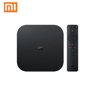 Xiaomi Mibox S 2GB DDR3 RAM 8GB ROM Android 8.1 5G WIFI bluetooth 4.2 H.265 TV Box Streaming Media Player Google Assistant Voice Control Support HD Netflix 5.1 Surround Sound Output Global Version