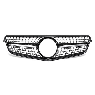 मर्सिडीज बेंज सी-क्लास W204 2008-2014 फ्रंट ग्रिल ग्लॉसी ब्लैक डायमंड स्टाइल के लिए