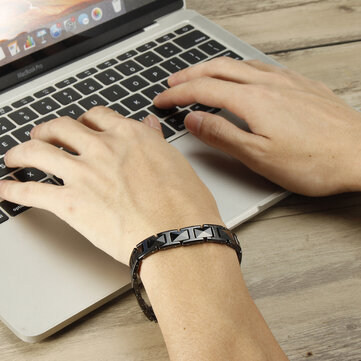 Buy Punk Stereo Health Balance Bracelet With Energy Magnet Magnetic Therapy Bracelet with Litecoins with Free Shipping on Gipsybee.com