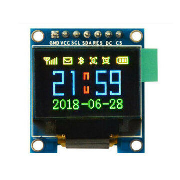 Geekcreit 0.95 Inch 7pin Full Color 65K Color SSD1331 SPI OLED Display For